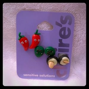 Sushi & pepper earrings by Claire's